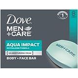 Dove Men+Care Body and Face Bar, Aqua Impact 4 oz