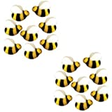 Bees Cakes Decorations #45148 - Bumble Bee Shaped Edible Hard Sugar Decorations, 16 pcs