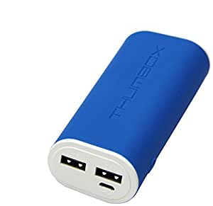 MiPow Thumbox 5200 mAh Dual Output Power Bank - Retail Packaging - Navy Blue