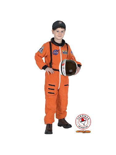 Aeromax Jr. Astronaut Suit with Embroidered Cap - Orange