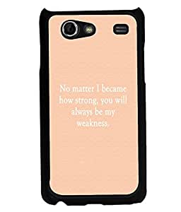 PRINTVISA Weakness Premium Metallic Insert Back Case Cover for Samsung Galaxy S Advance - I9070 - D6109