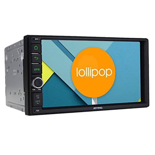 Joying 7-Inch Android 5.1.1 Lollipop Double 2 Din Car Stereo Quad Core 1024x600 Head Unit Bluetooth Touch Screen GPS AM/FM Radio Receiver Support Steering Wheel/Backup Camera/4g/WiFi/1080p