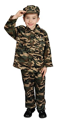 Boys Army Kids Child Fancy Dress Party Halloween Costume
