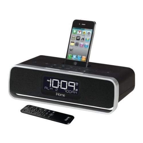 iHome iA91 App-Enhanced Dual Alarm Clock Radio for iPhone/iPod with AM/FM Presets (Black)