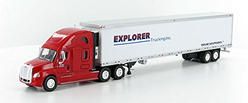 EXPLORER CASCADIA Freightliner w Trailer TONKIN 1/87 Diecast Truck HO Scale (Freightliner Diecast compare prices)