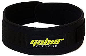 Gabor Fitness 4-Inch Epic Performance Low Profile Weightlifting Belt ... (Large -- 37