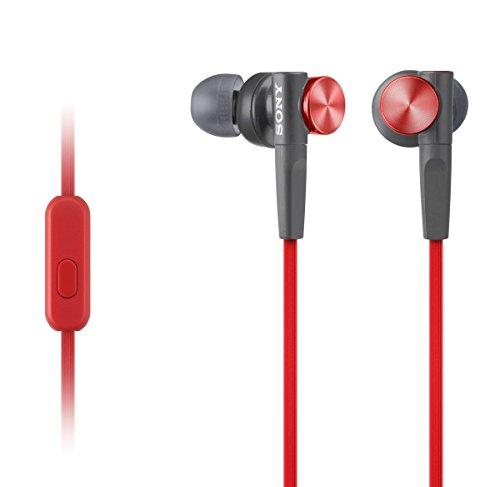 Sony MDR-XB50AP Cuffie Auricolari con Microfono in Linea, Rosso