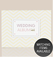 Chevron Collection Small Wedding Photo Album with Matching Keepsake Box