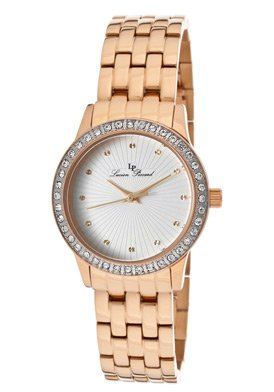 Lucien Piccard Women's 11696-RG-22S Monte Velan White Textured Dial Rose Gold Ion-Plated Stainless Steel Watch