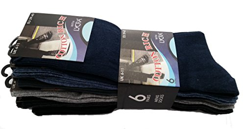 Calzini in cotone con Lycra - 6 paia Black / Grey / Light Grey / Light Blue / Dark Blue