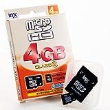 INX-MCHC04GC6 防水タイプmicroSDHC 4GB clas