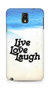 Amez Live Love Laugh Back Cover For Samsung Galaxy Note 3