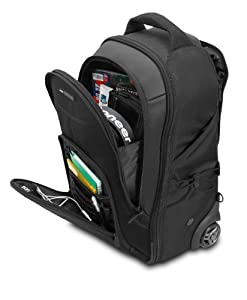 "UDG 8007BL Creator 21"" Version 2 - Black Wheeled Laptop Backpack"