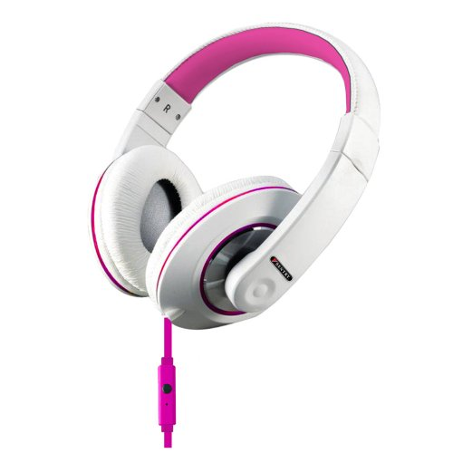 Sentry Industries Inc. Hm963 Deep Bass Stereo Headphones With Mic, Pink