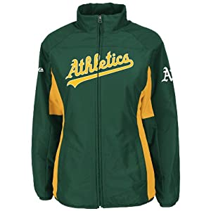 Buy Oakland Athletics Green Ladies Authentic Double Climate On-Field Jacket by Majestic by Majestic