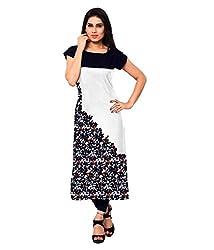 Shivam Women's Crepe Kurti (VT134_Multi-Coloured_38)