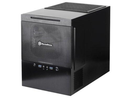 Silverstone Tek Micro-Atx/Dtx/Mini-Itx Aluminum Front Panel/Steel Body Mini Tower Computer Case Sg10B, Black front-408642