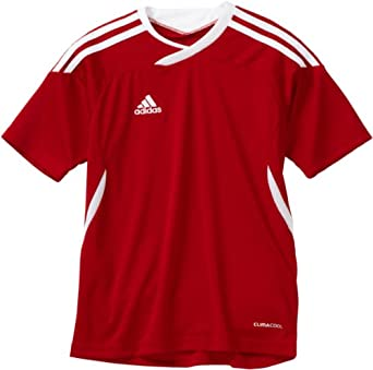 adidas Boys 8-20 Youth Tiro 11 Jersey, University Red/White, Large