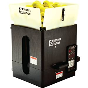 Tennis Tutor Plus Player Tennis Ball Machine with Two-Button Remote