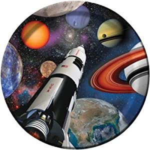 "Space Blast Dinner Plate 8.75"" (8) Birthday Party Supplies by Creative Converting"