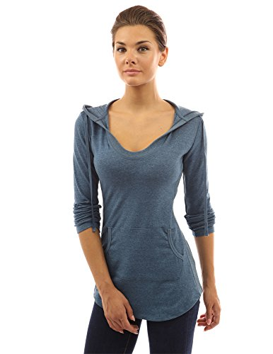 pattyboutik-womens-hoodie-curve-hem-tunic-top-heather-blue-s