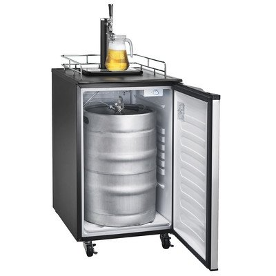 Buy Bargain Versonel VSL155TDSS Freestanding Full Keg Kegerator Beer Fridge Dispenser LCD Temp, Blac...