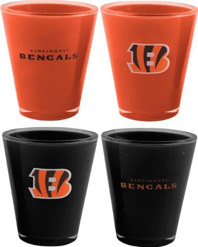 NFL Cincinnati Bengals 4-Pack Acrylic Team Color Acrylic Shot Set