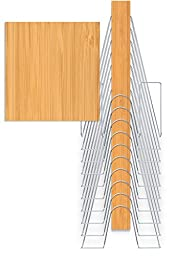 The Up Filer, Hanging Wall File in Light Caramel Bamboo, 10 Hangers/Pockets. Allows for Letter/Legal/Oversized