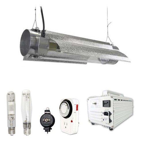 Virtual Sun 600W Hps Mh Grow Light Tube Reflector Hood Magnetic Kit- 600 Watt
