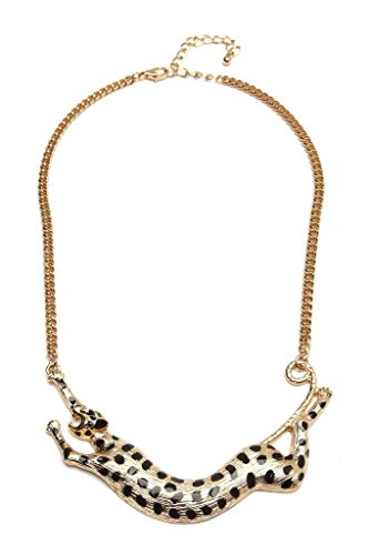 Jaguar Miss Flurrty Gold Dart Jaguar Non-Precious Metal Necklace For Women (Yellow)