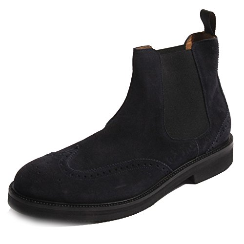 B0208 beatles uomo J.WILTON stivaletto blu boots shoes men [44]