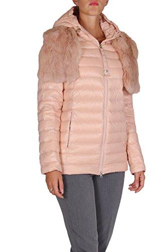 TWIN-SET PIUMINI DONNA TA52HB zip tasche con cappuccio collo con pelliccia ROSA M