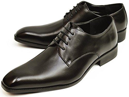 【12種類から選べる】ビジネスシューズ 幅広 3E メンズ レースアップ スリッポン 靴 紳士靴 【E】803[Black] ブラック 茶色26cm