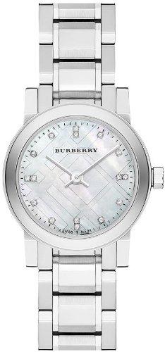 Burberry Mother of Pear diamond set Stainless Steel Ladies Watch BU9224
