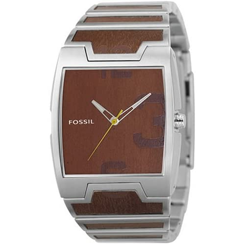 Amazon.com: Fossil Wood Inlay Mens Watch JR9356