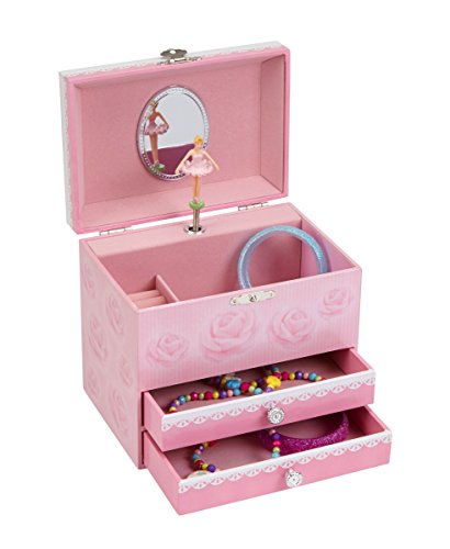 JewelKeeper Ballerina Music Jewelry Box with 2 Pullout Drawers, Swan Lake Tune