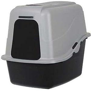 Petmate 22357 Hooded Litter Pan Set, Large (Black/Gray)