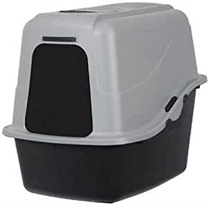 Petmate 22357 Hooded Litter Pan Set, Large (Black/Gray)