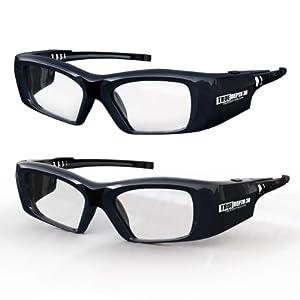 True Depth 3D® Firestorm XL Premium Quality DLP-LINK Rechargeable 3D Glasses with SteadySync (TM) Technology (2 Pairs) by True Depth 3D