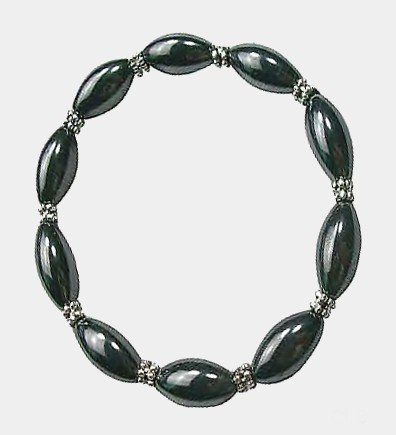 Women's Oval Beaded Hematite Magnetic Therapy Bracelet