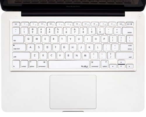 """Kuzy - White Keyboard Cover Silicone Skin For Macbook Pro 13"""" 15"""" 17"""" (With Or W/Out Retina Display) Imac And Macbook Air 13"""" - White"""