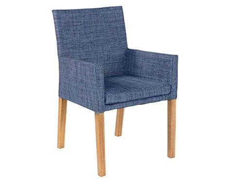 YORK Garten Sessel Textilene Blau günstig