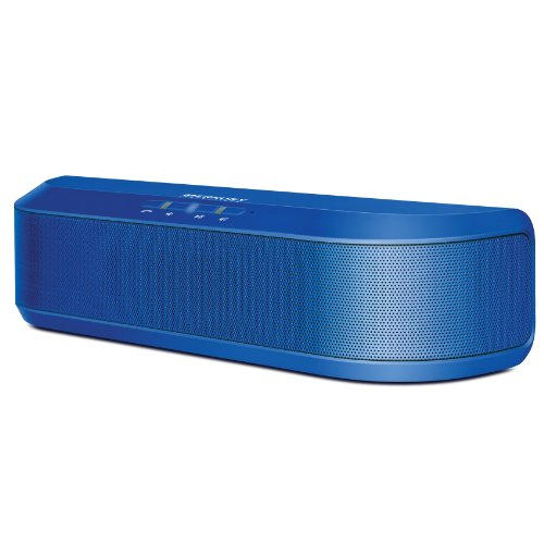 Merkury Anthem Portable Wireless Stereo Bluetooth Speaker With Built In Microphone / Speakerphone & 8 Hour Rechargeable Battery (Blue)