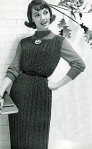 VINTAGE 1958 JUMPER DRESS KNITTING PATTERN (Style No. 124) - Instant Download to KINDLE Wireless Ebook Reader or Kindle for PC!