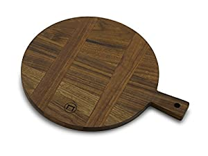Vermont Farm Table Round French Paddle Cutting Board (1 x 12 x 15, Walnut)