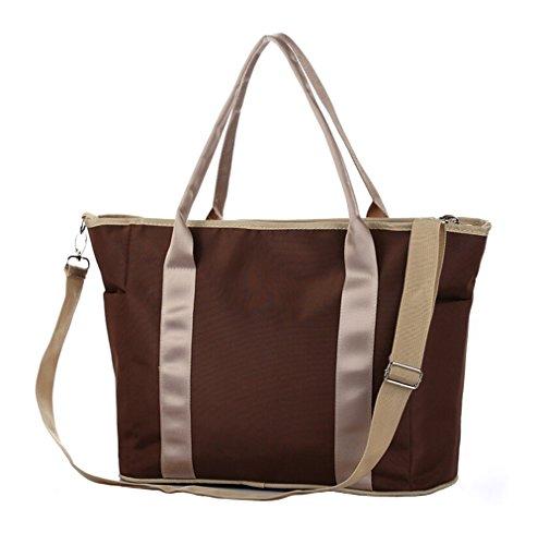 Tonwhar Large Capacity Multi-Functional Multi-Pocket Diaper Bag (Coffee) front-751176