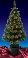 48242 Pre-Lit Color Changing Fiber Optic Artificial Christmas