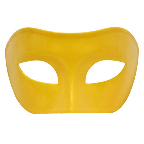 Yellow Venetian Masquerade Mask ~ Mardi Gras Prom Party