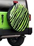 "32"" Zebra Print - Color Matched Rigid Tire Cover (Plastic Face & Vinyl Band) - Jeep Wrangler (JK) - Granite Crystal"