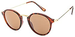 Rafa Round Sunglasses (Brown) (7069DEMIBRN)